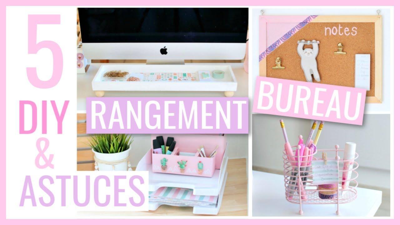 5 DIY & ASTUCES FACILES : BUREAU / Rangement & Organisation #2 - Petits Conseils