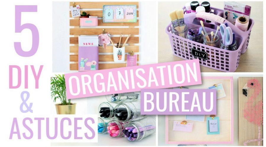 HUBSIDE : 5 DIY & ASTUCES FACILES : BUREAU / Rangement & Organisation