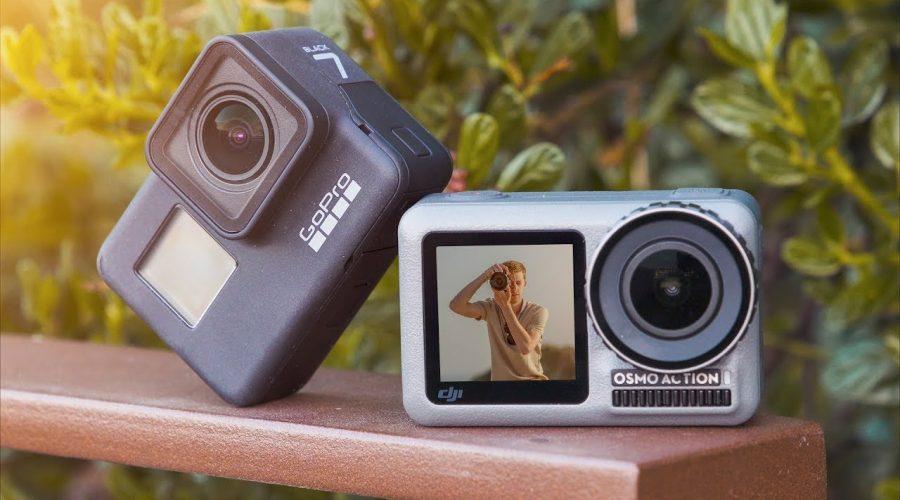 DJI Osmo Action vs. GoPro 7 : TEST et COMPARATIF