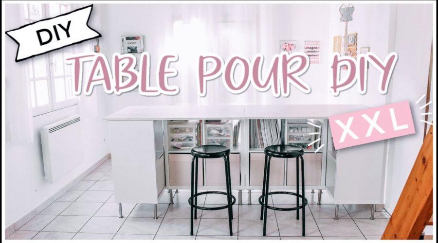 TABLE POUR DIY XXL Petit Budget / Astuce Rangement IKEA (français)