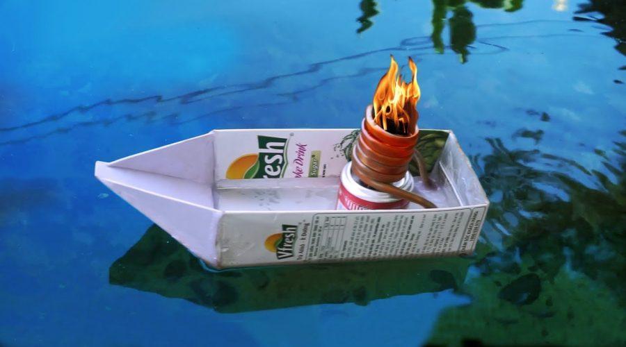 Cách chế thuyền chạy hơi nước đơn giản