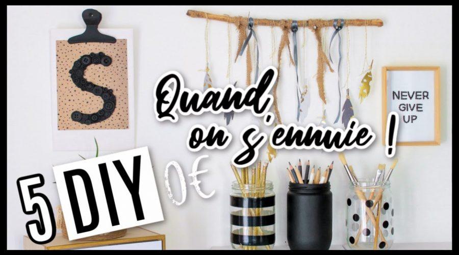 5 DIY 0€ À FAIRE QUAND ON S'ENNUIE EN CONFINEMENT !