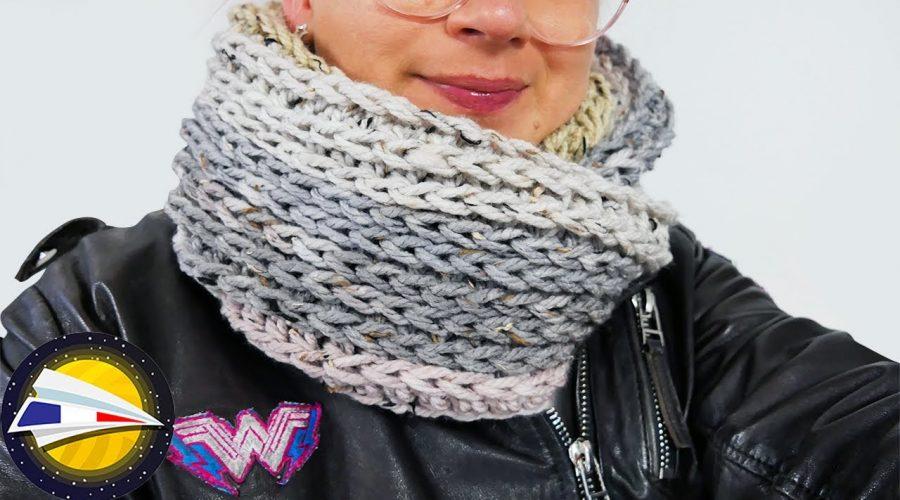 Crocheter avec effet tricot   Super jolie écharpe pour l'hiver   Crocheter un motif de tricot