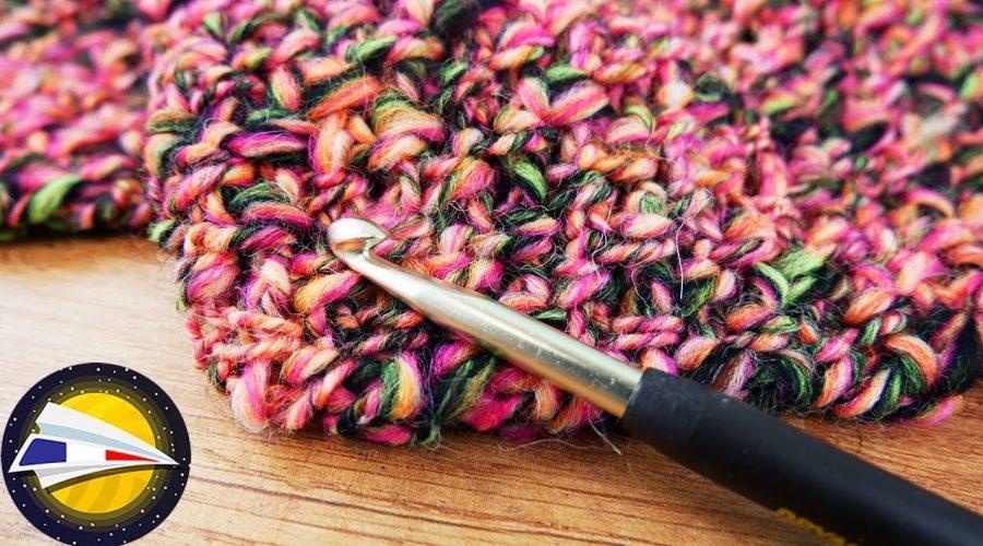 Crocheter avec une pelote d'Alpaga   Echarpe super chaude pour l'automne et l'hiver