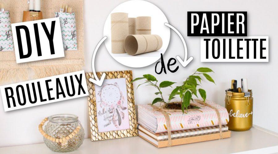 DIY 0€ AVEC DES ROULEAUX DE PAPIER TOILETTE !