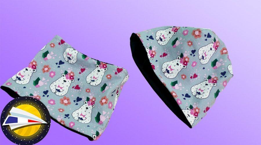Coudre un bonnet et un snood pour un bébé   sans patron   Couture pour débutants   DIY
