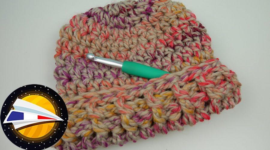 Crocheter un bonnet Over Size   Explications simples pour débutants