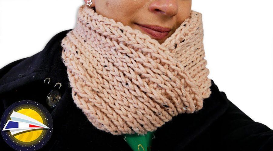 Snood au crochet avec look trictot | Test laine Action | instructions simples pour débutants