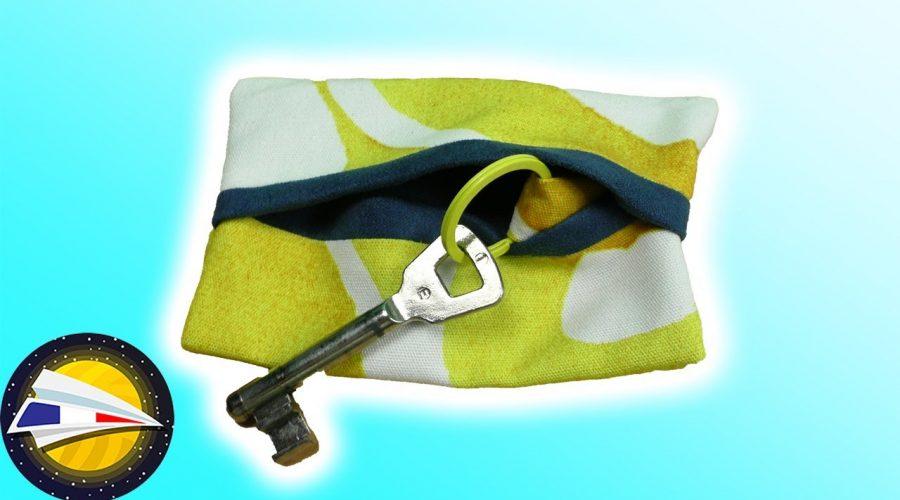 Coudre un sac pour trousseau de clés | Sac sans patron | Idée cadeau | Coudre poour débutants | DIY
