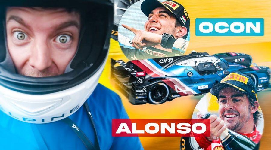 J'ai roulé avec Fernando Alonso et Esteban Ocon !! 🤯