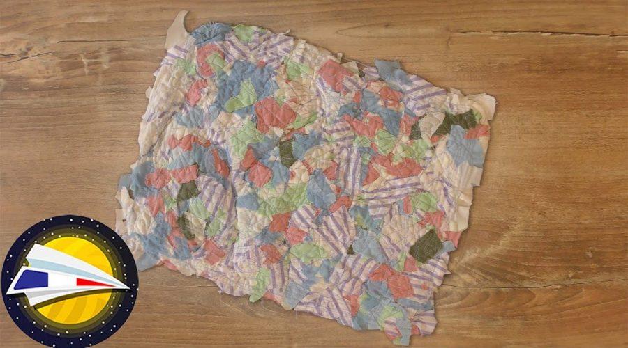 Tissu à faire soi-même | Fabriquer du tissu avec des restes de tissu | DIY
