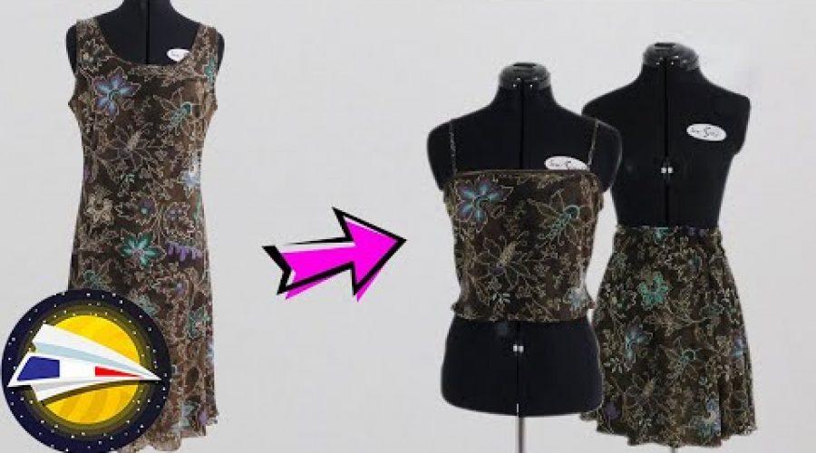 Transformer une robe en un deux-pièces | Idée Upcycling | DIY