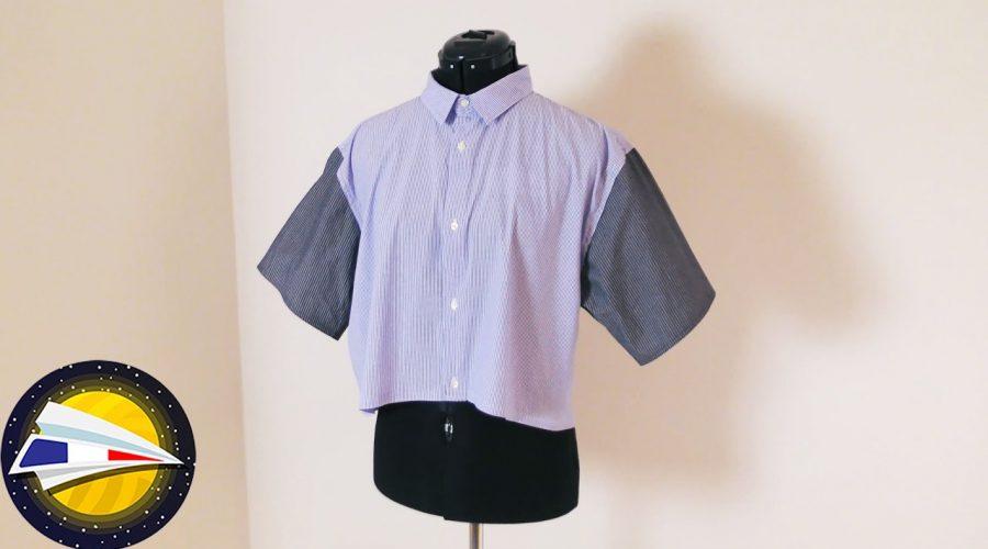 Coudre un nouveau haut avec des vielles chemises pour homme | Upcycling Project | DIY